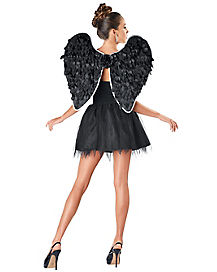 White Trimmed Dark Angel Wings