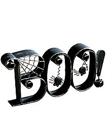 Boo Metal Decor