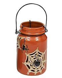 Orange Halloween Jar Lantern