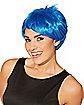 Blue Pixie Adult Wig
