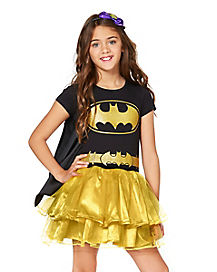 Batgirl Tutu Dress with Cape Girls Costume