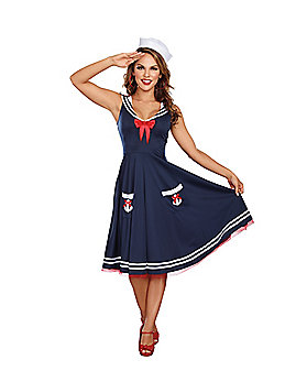 Adult All Aboard Sailor Costume