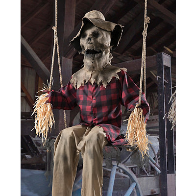 6 ft swinging scarecrow animatronics decorations - Spirits Halloween Alexandria La