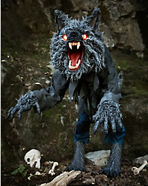 4 ft howling werewolf animatronics decorations