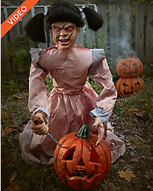 2 ft lunging pumpkin carver animatronics decorations - Spirit Halloween Animatronics