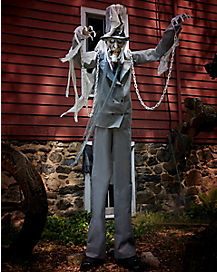 7 ft towering chained ghost animatronics decorations - Spirit Halloween Animatronics