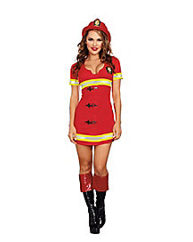 Adult Red Hot Fire Chief Costume