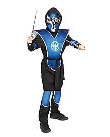 Kids Chrome Raven Ninja Costume