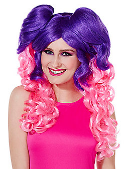 Pink and Purple Wig