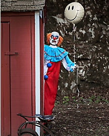 5 Ft Evil Clown Animatronics - Decorations