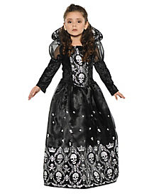 Kids Dark Skeleton Princess Costume