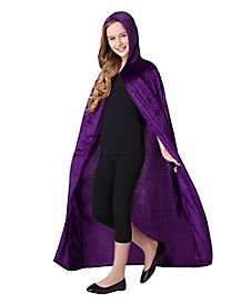 Kids Purple Velvet Cape