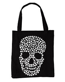 Skull Canvas Tote Bag
