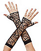 Spiderweb Fishnet Gloves