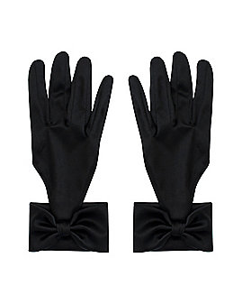 Black Gloves with Bows