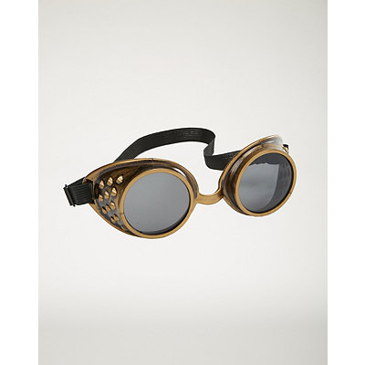Steampunk Costume Essentials for Women Metallic Steampunk Goggles $7.99 AT vintagedancer.com