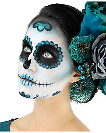 Teal Day of the Dead Makeup Kit