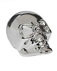 Chrome-Finished Skulls 4 Pack