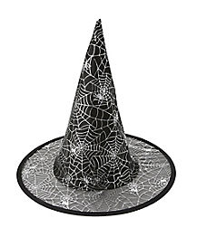 Kids Silver Spider Web Witch Hat