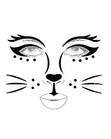 Black Cat Face Decal