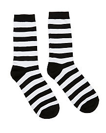 Burglar Stripe Crew Socks
