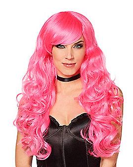 Pink Curls Wig