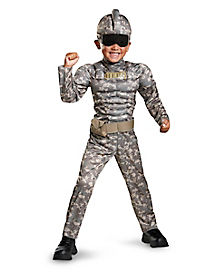 Toddler Combat Warrior One Piece Costume