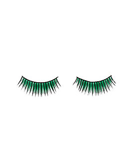 Green Eyelashes