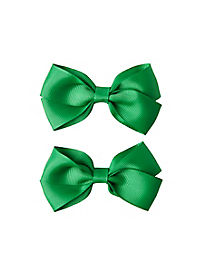 2 Pack Green Bows