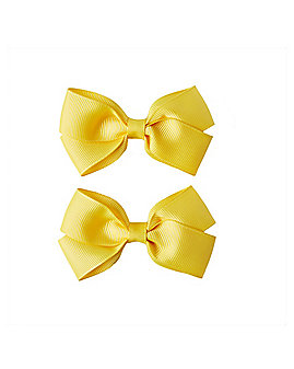 2 Pack Yellow Bows