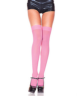Pink Thigh High Stockings