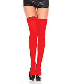 Red Thigh High Stockings