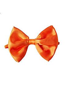 Orange Satin Bowtie