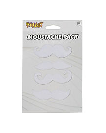 White Mustaches 4 Pack