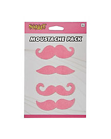 4pk Pink Mustaches