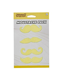 4pk Yellow Mustaches