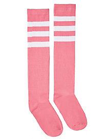 Knee High Pink Socks