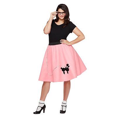 1950s Costumes Adult 50s Poodle Skirt Plus Size Costume $24.99 AT vintagedancer.com