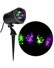 Whirl-A-Motion LED Purple and Green Witch Projection Spot Light