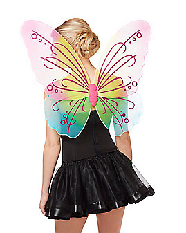Ombre Rainbow Butterfly Wings