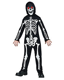 Kids Skeleton Phantom One Piece Costume