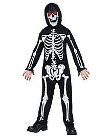 Kids Skeleton Phantom Costume