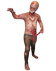 Kids Exploding Guts Zombie Spandex Suit Costume