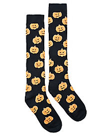 Pumpkin Knee High Socks
