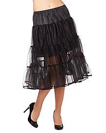 Long Black Petticoat
