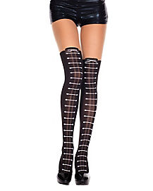 Faux Lace Up Tights