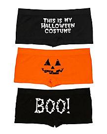 Adult Halloween Boyshort 3 Pack