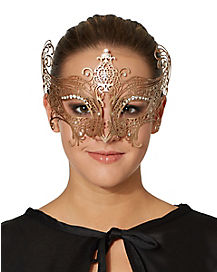 Gold Metal Lace Mask