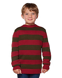 Kids Red and Green Striped Sweater