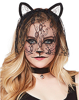 Veiled Lace Cat Ears
